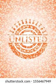 Unlisted orange mosaic emblem with background