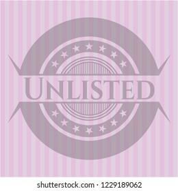 Unlisted pink emblem. Vintage.