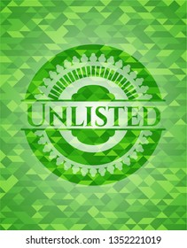Unlisted realistic green mosaic emblem