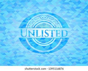 Unlisted realistic sky blue mosaic emblem