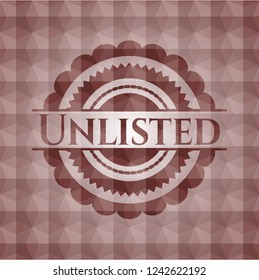 Unlisted red emblem with geometric pattern. Seamless.
