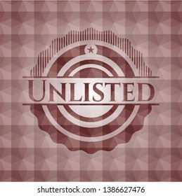 Unlisted red seamless emblem with geometric background.