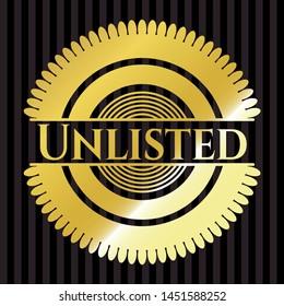 Unlisted shiny emblem. Vector Illustration. Detailed.