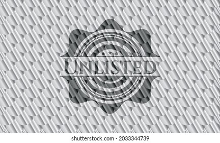 Unlisted silver badge. Scales pattern. Vector Illustration. Detailed.
