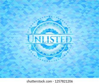 Unlisted sky blue mosaic emblem