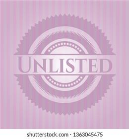 Unlisted vintage pink emblem