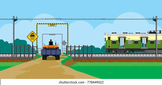 unmanned level crossing