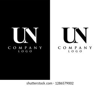 un/nu modern logo design with black and white color that can be used for creative business and company
