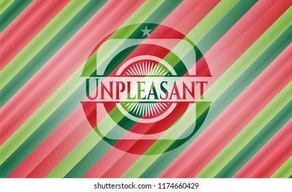 Unpleasant christmas style emblem.