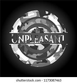 Unpleasant grey camouflaged emblem