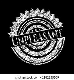 Unpleasant on blackboard