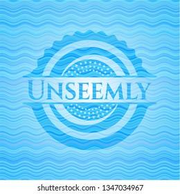 Unseemly water representation style emblem.