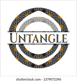Untangle arabic emblem. Arabesque decoration.