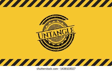 Untangle grunge warning sign emblem. Vector Illustration. Detailed.