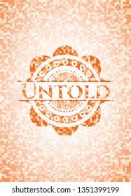 Untold abstract orange mosaic emblem