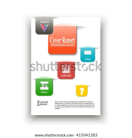 unusual color a 4 cover sheets looking stock vector royalty free