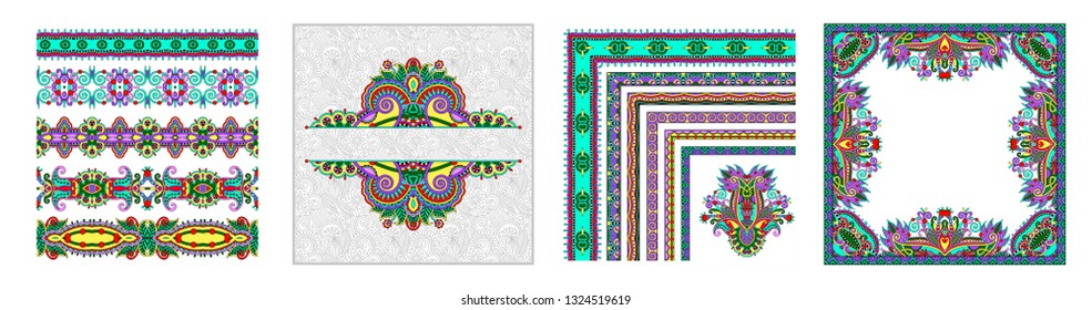 unusual floral ornamental template with place for your text, oriental vintage pattern for invitation party card, brochure design, postcard, packing, book cover, vector illustration