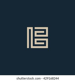 Unusual geometric letter B. Architecture vector logo. Isolated monogram.
