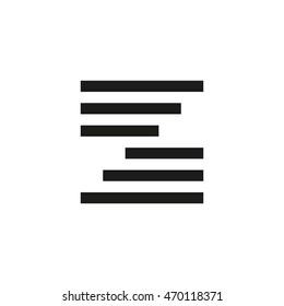 Unusual geometric letter Z. Architecture vector logo. Isolated monogram.