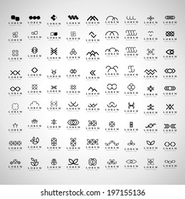 Unusual Icons Set - Isolated On Gray Background - Vector Illustration, Graphic Design Editable For Your Design