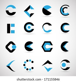 Unusual Letters Set - Isolated On Gray Background - Vector Illustration, Graphic Design Editable For Your Design.