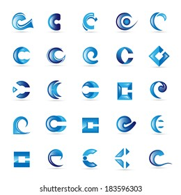 Unusual Letters Set - Isolated On White Background - Vector Illustration, Graphic Design Editable For Your Design