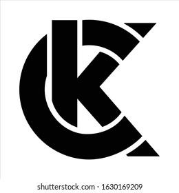 Unusual minimalistic monogram C and K. Business logo template. C and K logo. C and K icon. CK logo. CK icon. Vector logo