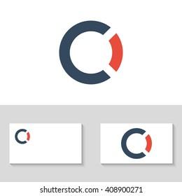 Unusual minimalistic monogram C and O. Letter C and O logo. Business logo template