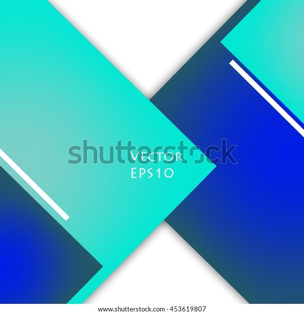 Unusual modern material design vector background. Geometric shapes. Eps10 vector illustration