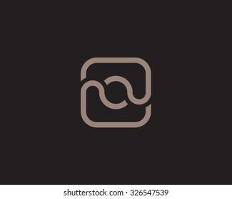 Unusual quirky vector logo monogram.