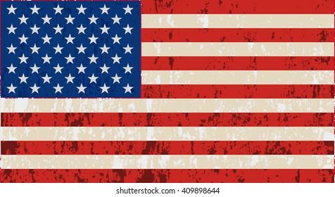 Unusual USA flag. Vector image