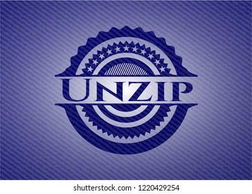Unzip emblem with jean texture