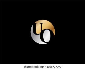 UO circle shape gold silver color design