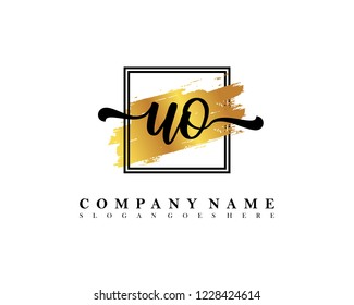 UO Initial handwriting logo concept