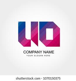 UO Letter Logo Design