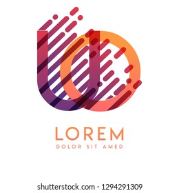 UO logo with the theme of galaxy speed and style that is suitable for creative and business industries. OU Letter Logo design for all webpage media and mobile, simple, modern and colorful