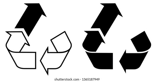 Upcycling Upcycle icon logo vector Recycle Substainability in Black