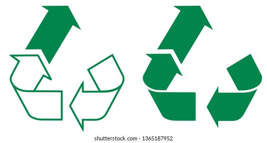 Upcycling Upcycle icon logo vector Recycle Substainability in Green