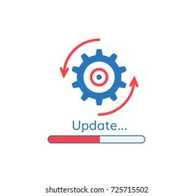 update application progress icon upgrade software loader