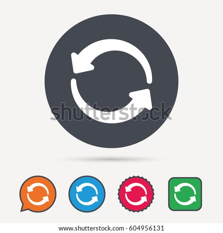 Update Icon Refresh Repeat Symbol Circle