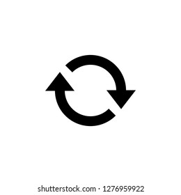 Update icon vector. Reload symbol. refresh icon