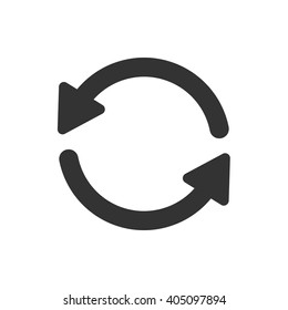 Update icon vector, solid illustration, pictogram isolated on white