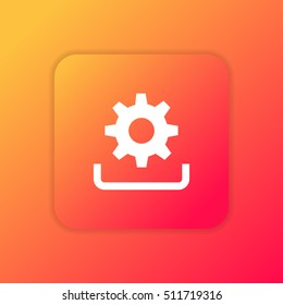 Update orange bright app ui/ux Icon / Logo design