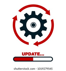 Update software icon. concept of update application progress icon, for graphic and web design