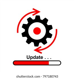 Update Software Icon Vector Graphic Illustration