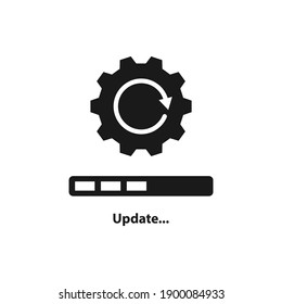 Update system progress. Loading process.  Upgrade application icon concept isolated on white background. Vector illustration
