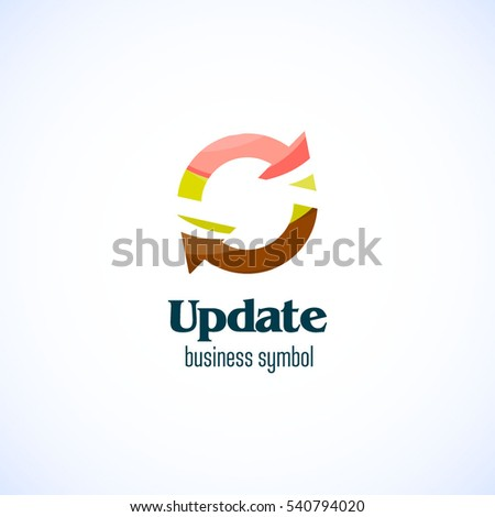 update vector business logo template stock vector royalty free