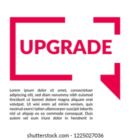 Upgrade sign,label. upgrade speech bubble. upgrade tag sign,banner