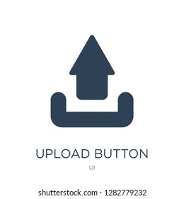 upload button icon vector on white background, upload button trendy filled icons from UI collection, upload button vector illustration