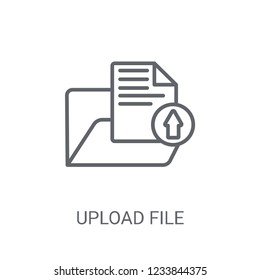 Upload file icon. Trendy Upload file logo concept on white background from web hosting collection. Suitable for use on web apps, mobile apps and print media.